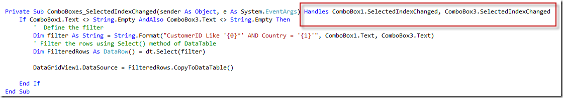 ADO NET: How to Filter Data in a DataTable - Ged Mead's Blog