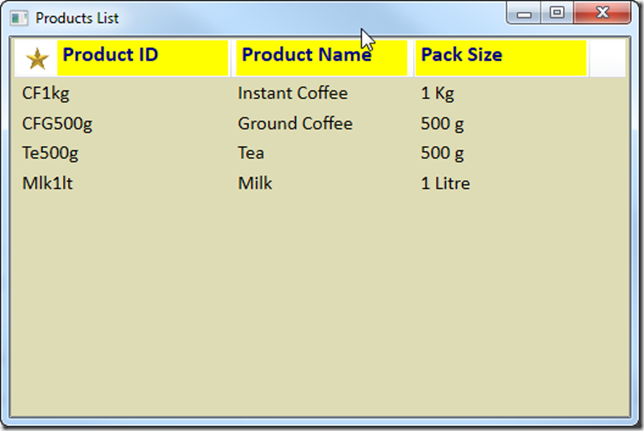 WPF ListView Column Headers - Ged Mead's Blog - vbCity - The
