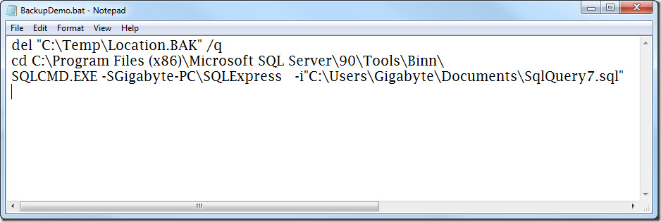 Backup a SQL Server Database from a VB NET Application - Ged