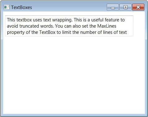 WPF TextBox: Multiline, TextWrapping, MaxLines and