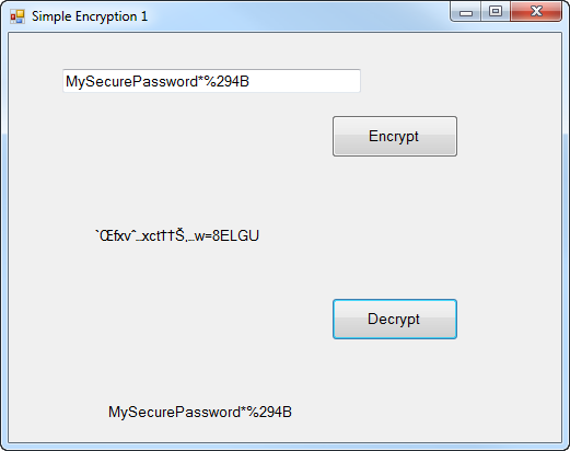 Simple String Encryption in Visual Basic (Part 1) - Ged
