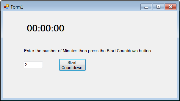 How to display a countdown timer - Ged Mead's Blog - vbCity