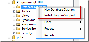 Sql server error message database diagram support objects cannot be depending on how you attached the database in the first place you might come up against this error message when you select either of those options ccuart Image collections