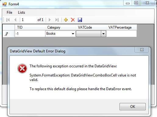 Problems with data bound DGV and data bound comboboxes showing Value